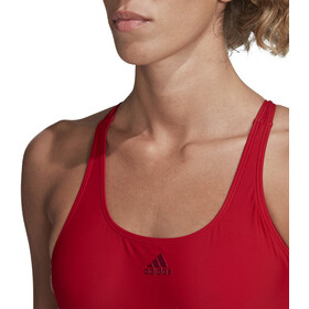 adidas Fit 3-Stripes Costume da bagno Donna, team colleg red/white